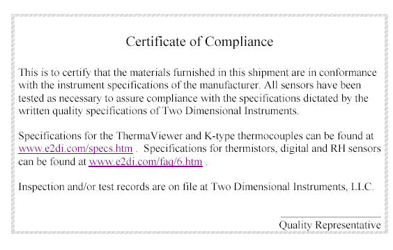 Documents for the tv2 and other 2di products certificate of compliance for thermaviewers altavistaventures Images