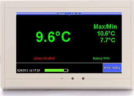 ThermaViewer temperature monitor probe