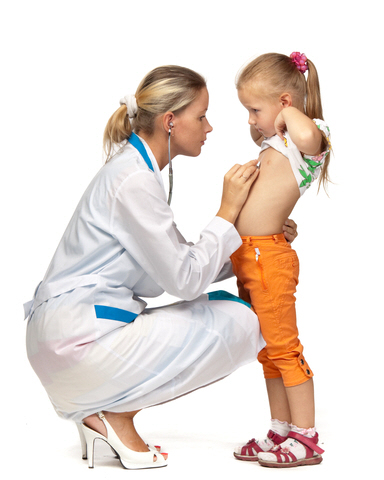 Nurse with small girl